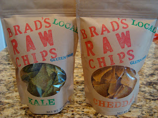 Two bags of Brad's Raw Chips in Kale and Cheddar