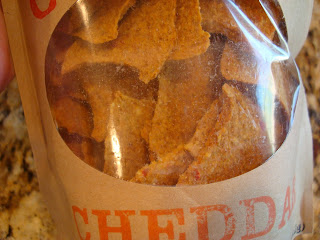 Close up of chips in Cheddar bag