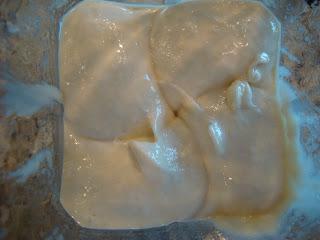 Vegan Mint Chocolate Chip Softserve blended up