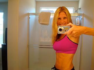 Woman posing in workout gear