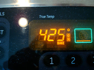 Oven preheated to 425 degreed F