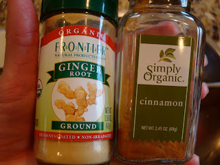 Jars of ground Ginger and Cinnamon