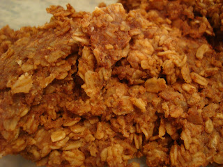 Up close of homemade granola