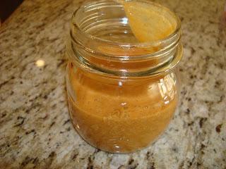 Cinnamon Cumin Ginger Dipping sauce in small mason jar