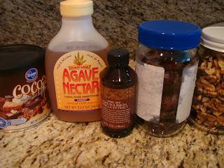 Ingredients needed to make raw vegan brownies