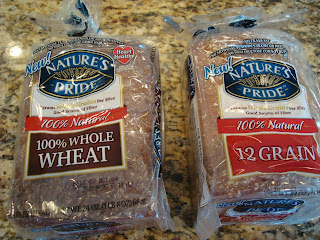 Nature's Pride Brand 100% Whole Wheat and. 12 Grain Bread Loaves