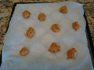 Vegan Peanut Butter Cookie Dough Balls on dehydrator tray
