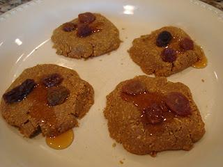 Four No-Bake Vegan 3-Ingredient Flaxseed Cookies on white plate