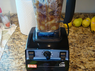Ingredients for Peanut Butter Banana Bread in another blender