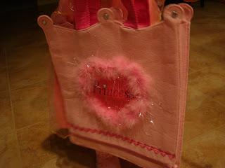 Pink Princess candy collection bag