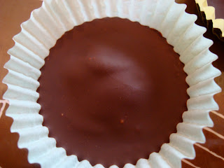 Ritz stuffed peanut butter cups top view