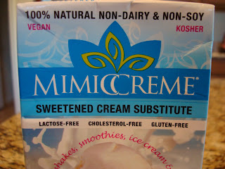 MimicCream showing it is lactose, Cholesterol, and Gluten-Free