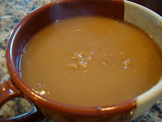 Gravy in bowl