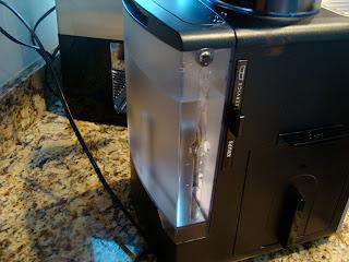 Water take for espresso maker attached to machine
