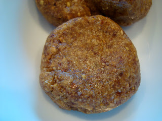 Overhead of shaped Raw Vegan Almond Butter Cookie