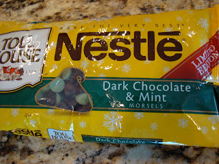 Bag of Nestle Dark Chocolate & Mint Holiday Chips