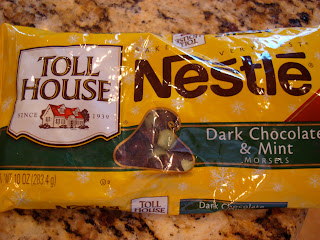 Package of Nestle Dark Chocolate & Mint Morsels