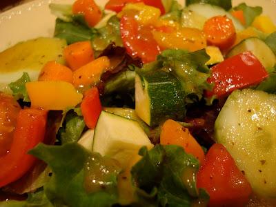 Salad with Holiday Orange Spice Viniagrette