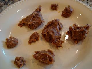 Raw Vegan Sugar Cookie Dough Balls ingredients on plate