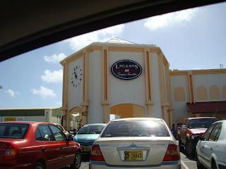 Outside of grocery store in Aruba