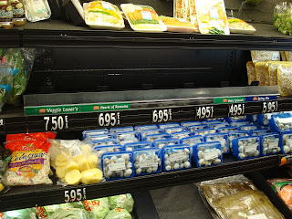 Grocery store shelves in Aruba