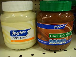 Dutch White Chocolate and Hazelnut Pastes