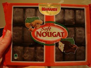 Box of Marandi Dark Chocolate with White Nougat