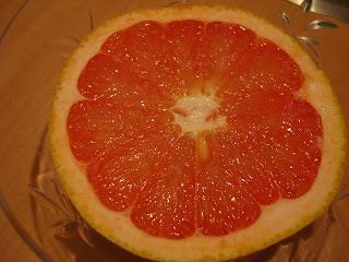 Half a slice of grapefruit