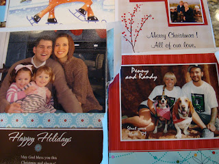 Close up of Christmas Cards