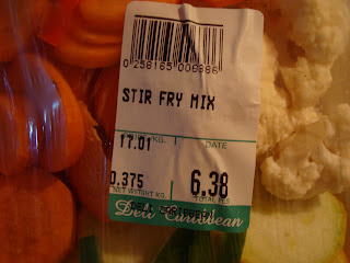 Stir fry mix in package