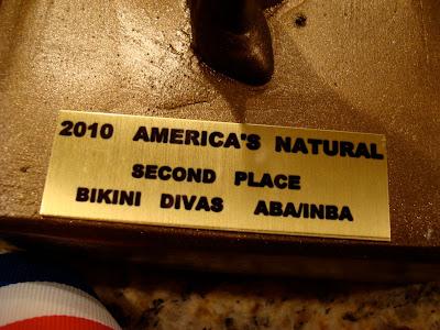 Second place trophy for Bikini Divas