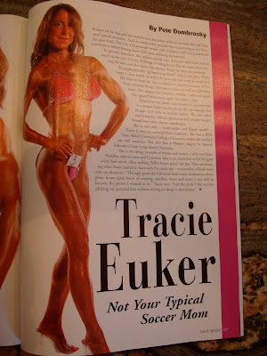 Page inside magazine about Tracie Euker