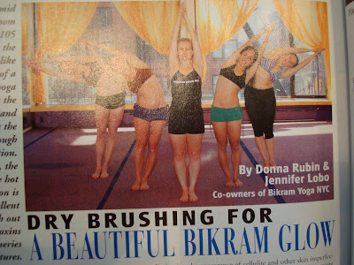 Article in magazine about yoga
