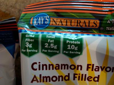 Close up of one Kay's Naturals bag