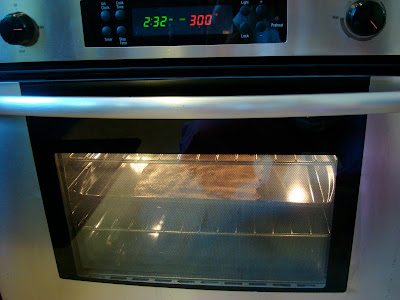Seeds Only Cracker sheet in oven at 300 degrees F