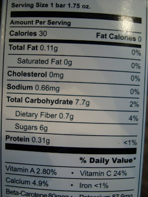 Nutritional Facts on Bars