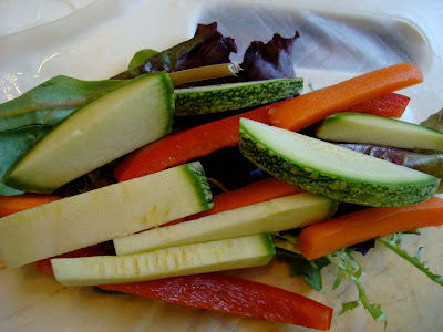 Vegetables on Spring Roll Wrapper