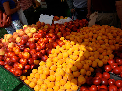 Various fruits in stand at Farmer's Market