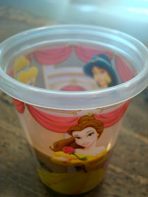 Chocolate Coconut Princess Shake in princess cup