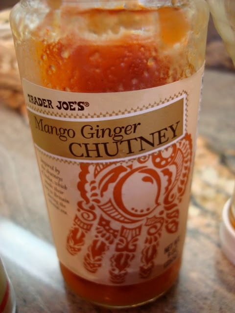 Close up of jar of Mango Ginger Chutney