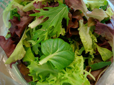 Mixed greens in bag
