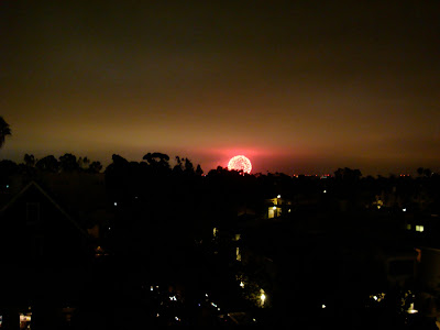 Large firework going off in the distance