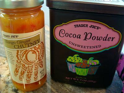 Mango Ginger Chutney and Cocoa Powder