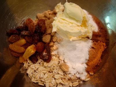 Ingredients for Vegan Gluten Free Blueberry Streusel Muffins in bowl