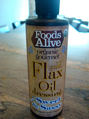 Bottle of Foods Alive Sweet & Sassy Flax Oil Dressing