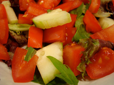 Mixed salad with stevia leaves