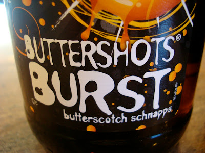 Up close of label on Buttershots Burst
