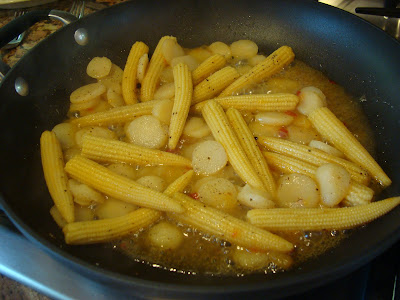 Sweet & Sour Veggie Stir Fry sautéing in pan