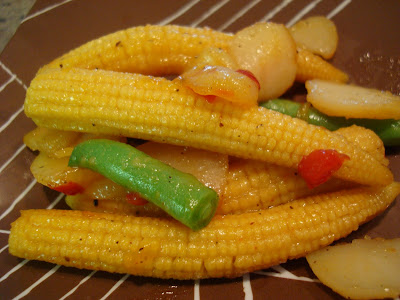 Plated Sweet & Sour Veggie Stir Fry