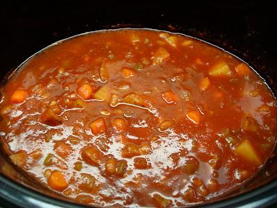 Hearty Vegan Southwestern Sweet & Spicy Soup in pot